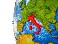 Italy on 3D Earth