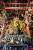 Vairocana buddha in Daibutsu-den Todai-ji temple, Nara, Japan