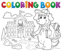 Coloring book school dog theme 2