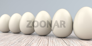Natural Easter Eggs Wooden Table
