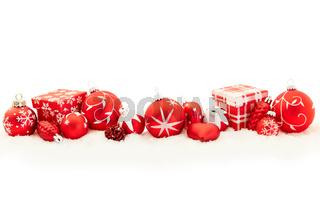 Weihnachten Hintergrund mit Geschenk und Deko