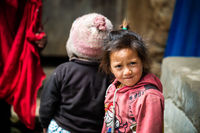 Nepali girl in Lamjung district, Nepal