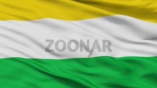 Coper City Flag, Colombia, Boyaca Department, Closeup View