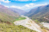 chicamocha canyon and river panoramic view Colombia