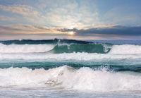 Sea storm scenery