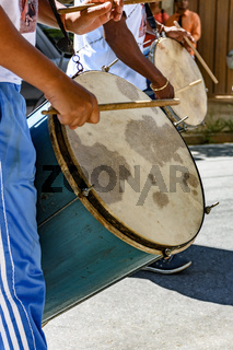 Brazilian ethnic drums players