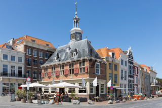 Brasserie located in old Dutch medieval building, Vlissingen, The Netherlands