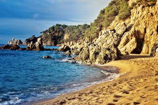 Mediterranean coast in bright colors of summer