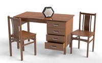Old style chair and desk table.