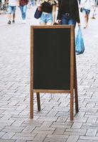 blank blackboard chalkboard advertising sign board or customer stopper