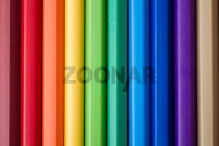 Bunch of Colorful Pencils Side By Side on as Texture and Background