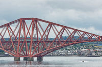 The Forth Rail Bridge, Scotland, connecting South Queensferry (Edinburgh) with North Queensferry (Fife).