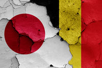flags of Japan and Belgium