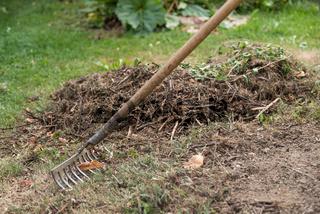 Sicherheit in der Gartenarbeit - Eisenrechen richtig ablegen