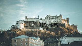 Fortress Hohensalzburg in autumn, Salzburg Austria
