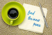 find the inner peace