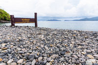 Place name plate of Ko Hin Ngam island in Thailand