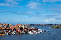 Blick auf den Ort Fiskebäckskil in Schweden