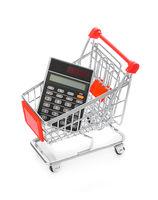 Calculator in shopping cart