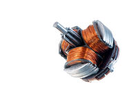 Old isolated inductor of an electric motor