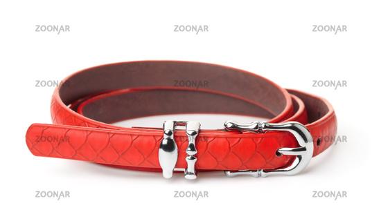 Red women thin belt