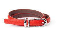 Red women thin belt