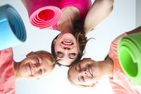 Young woman having fun with kids