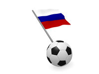 Soccer ball with the flag of Russia