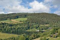 Blick auf den Kronenburger See in der Eifel,Nordrhein-Westfalen,Deutschland