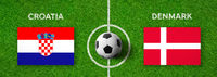 Football match Croatia vs. Denmark