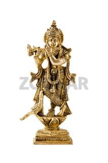 Krishna statue on white