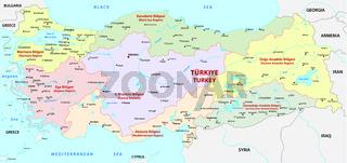 tutkey regions map