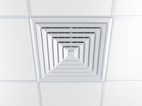 Air vent on a ceiling
