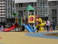 buildings with a children's playground