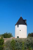 Ile de Ré old windmill in village Loix