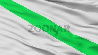 Fomeque City Flag, Colombia, Cundinamarca Department, Closeup View