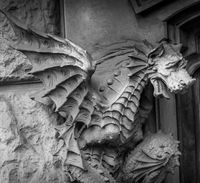 TURIN, ITALY - Dragon on Victory Palace facade