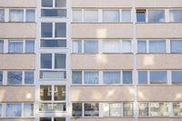 social housing in Berlin, facade with light dots