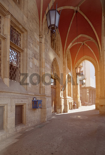 Arches of Town Hall in Efrurt, Thuringia, Germany