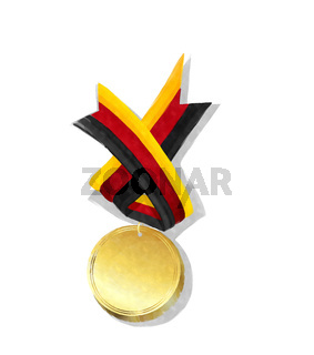 Watercolor Germany gold medal