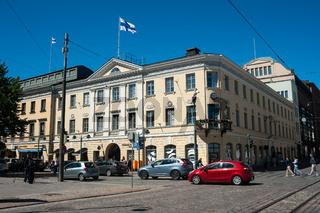 Helsinki, Finnland, Strassenszene im Stadtzentrum der Hauptstadt
