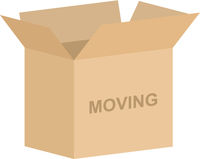 Open Cardboard Moving Box Vector