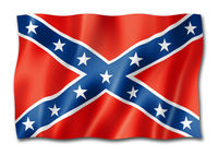 Confederate flag isolated on white