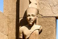 statue half length of Pharaoh Ramses II temple of Luxor