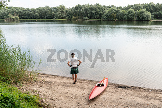 Paddler am Altrhein