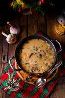a christmas mushroom soup of polish style