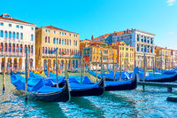 Grand Canal in Venice on sunny summer day