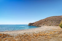The beach Lampsa in Chios, Greece
