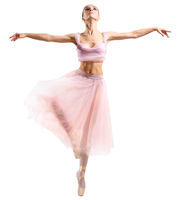 Young ballerina (isolated on white version)