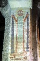 Heiliger Onuphrius, Fresko im Innern der Felsenkirche Debre Maryam Qorqor, Gheralta,Tigray,Äthiopien